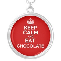 Keep Calm and Eat Chocolat Custom Jewelry