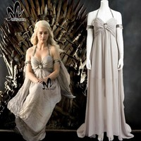 Game of Thrones Season 1 Daenerys Targaryen Cosplay Costume Halloween