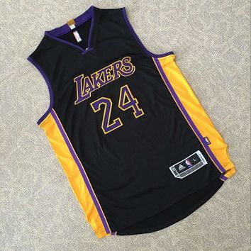 KUYOU Los Angeles Lakers Kobe Bryant Black 100% Authentic Jersey