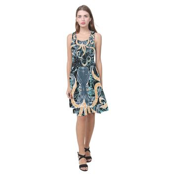 Octopus And Anchors Summer Beach Dress