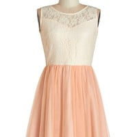 ModCloth Pastel Sleeveless A-line Everything's Peachy Dress