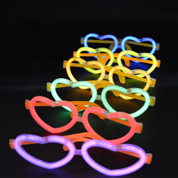 Glow Stick On Eyeglasses Glow In The Dark Rave Party 10 Sets