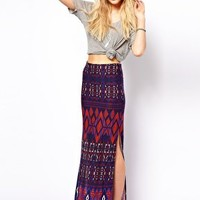 ASOS Maxi Skirt in Aztec Print