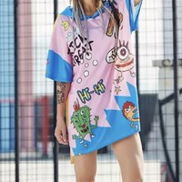 Hi Graffiti Hoodie Dress Punk tg