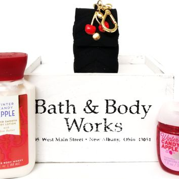 Bath and Body Works Winter Candy Apple Travel Lotion, PocketBac & Cherry Holder