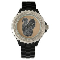 Black Squirrel Brown Oak Necklace Wrist Watches