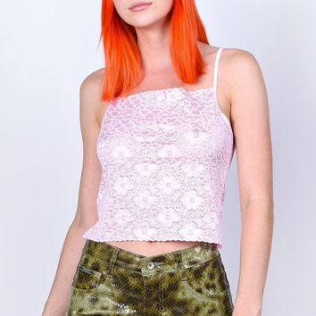 Deadstock Coco Lace Tank - BB Pink