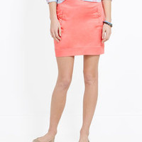Sateen Pocket Skirt