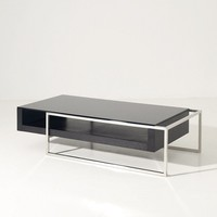 Modrest Garnet Modern Oak and Glass Coffee Table