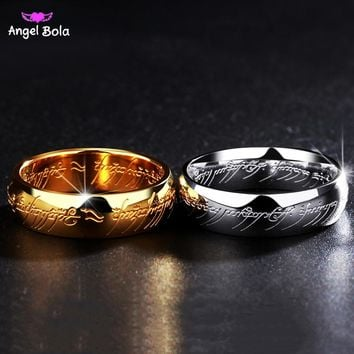 Lord of The Ring Titanium Steel Wedding Rings Engagement Cocktail Parents Gift Couple Bands Hobbit Rings Movie Jewelry