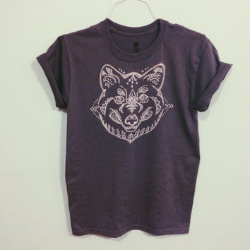 SALE Wolf shirt-  made to order