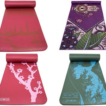 Printed Yoga Mat Extra Thick Exercise Mat. Choose Your Design. Extra Thick NBR