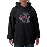 Fight Like a Girl Boxing - Breast Cancer Hoody from Zazzle.com