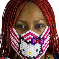 Hello Kitty Full Kandi Mask
