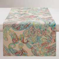 Multicolor Paisley Chambray Table Runner - World Market
