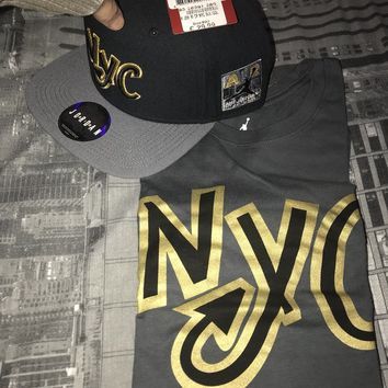 Nike Air Jordan 10 NYC SHIRT SNAPBACK HAT CAP NEW OUTFIT SHOES CAPPELLO MAGLIA