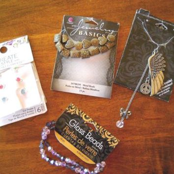 Mixed Jewelry Making Beads, Earrings, Etc. with Swarovski, NWT!