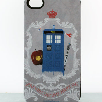 WhoLock Fan Art iPhone 4 Case Sherlock & Dr Who BBC