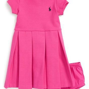 Ralph Lauren Pleated Dress (Baby Girls) | Nordstrom