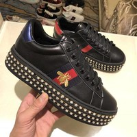 GUCCI Drilled thick-soled casual women's shoes