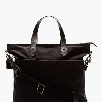 Rag And Bone Black Canvas Rugged Tote Bag