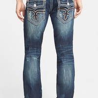 Rock Revival Straight Leg Jeans (Dark Blue)