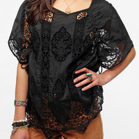 Hazel Crochet Inset Sheer Tunic