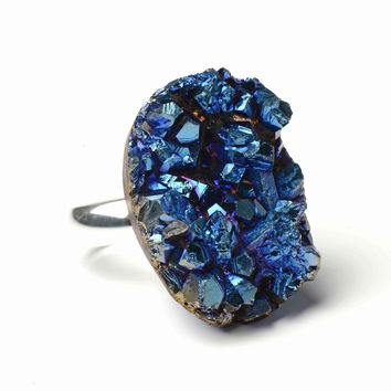 Only Child Blue Asteroid Ring