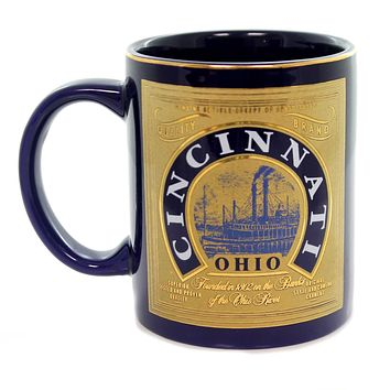 Tabletop CINCINNATI OHIO MUG Ceramic Ohio River Banks 905701