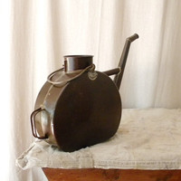 Rustic watering can vintage French country decor by lapomme