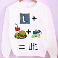 Tumblr + Food + Sleep = Life Crewneck/Sweatshirt