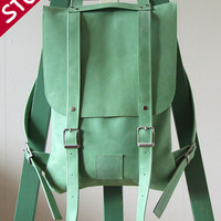 In stock / Leather back pack rucksack handmade