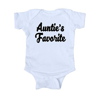 Auntie's Favorite Bodysuit Cute Aunt Gift Girl Boy Baby Shower Infant Clothing
