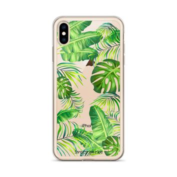 Monsteras Floral iPhone Case