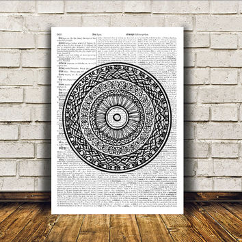 Sacred Geometry poster Mandala art Wall decor New Age print RTA365