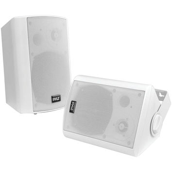 """Pyle Home 6.5"""" Indoor And Outdoor Wall-mount Bluetooth Speaker System (white)"""