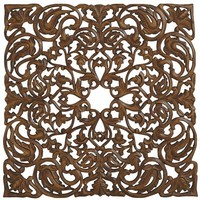 Carved Paisley Wall Panel