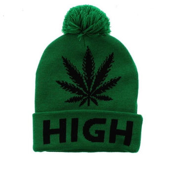 * High Beanie In Green