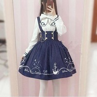 Lolita Suspender Skirt + Shirt