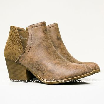 Rusty Suede Mocha Booties