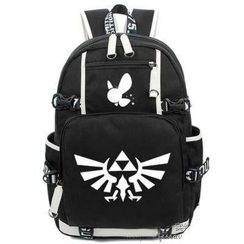 Hot Anime The legend of zelda Backpack Cosplay Fashion Canvas Bag Luminous Schoolbag Travel Bags