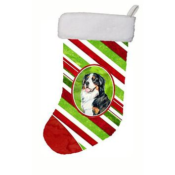 Bernese Mountain Dog Candy Cane Holiday Christmas Christmas Stocking LH9244