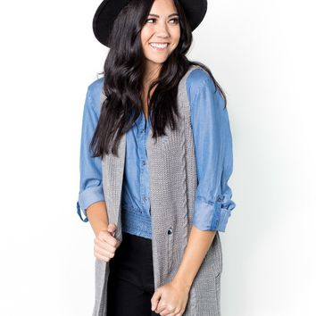 Leigh Distressed Sweater Vest
