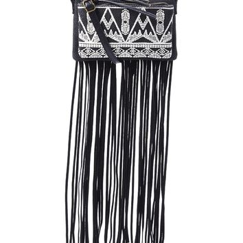 Embroidered Fringe Crossbody by T-shirt and Jeans