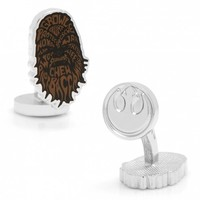 Star Wars Mens Chewbacca Typography Cufflinks with Collectible Gift Box
