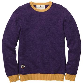 Let-Her Sweater in Purple and Gold by Southern Proper - FINAL SALE