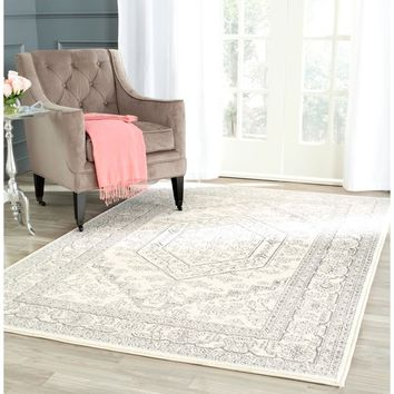 Safavieh Adirondack Ivory/ Silver Rug (12' x 18') | Overstock.com Shopping - The Best Deals on Oversized Rugs