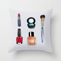 Makeup is my art Throw Pillow by Natalie Murray