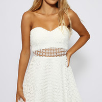 Ivory Entropy Dress - White