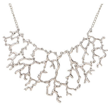 Statement Necklace For Women Fashion New Exaggerated Luxury Vintage Hollow Tree Branch Chokers Collars Necklace